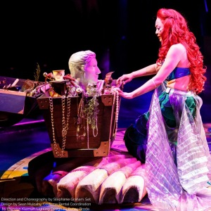 Ariel, the mermaid, admiring her